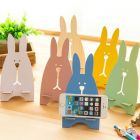 Korean Creative Bunny Wooden Phone Holder