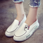 Female Lady Face Printing Thick-bottomed Thick Platform Shoes