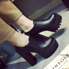 British Style Comfort Thick Sole High-heeled Boots