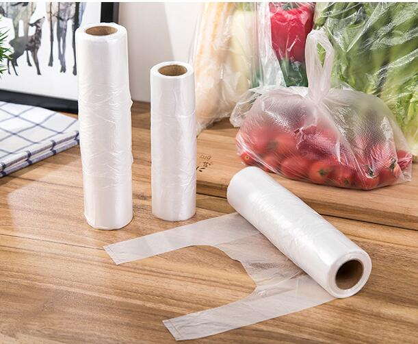Extra Thick Tank Top Style Shredded Disposable Food Storage Bags /100pcs per Unit