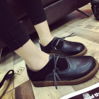 England College Black Leather Shoes
