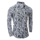 Classic Camouflage Fashion Long-Sleeved Slim Fit Men's Casual Shirts