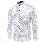 3D Men's Plaid Long-Sleeved Casual Shirt