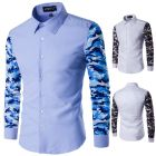 European Men's Fashion Casual Camouflage Long-Sleeved Slim-Fit Classic Shirt