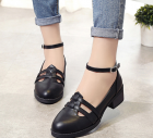 British Style Women's Point Head Shoes