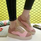 Fashion Women's Casual Flat-Bottomed Sole Wave Design Sport Shoes