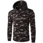 Men's Slim Fit Casual Paisley Pattern Designed Hooded Sweater Jacket