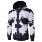 Men's 3D Artistic Black White Ink Splash Print Hooded Sweater Jacket