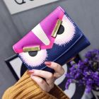 Adorable Cartoon Angry Eyes Classy Women's Long Purse Wallet