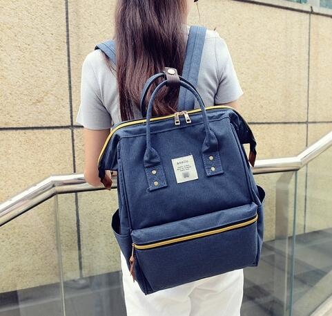 Anello Inspired Simple Classic Vintage Color Large Storage Backpack