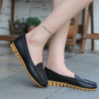 Korean Women's Retro Fashion Round Head Shallow Mouth Casual Shoes