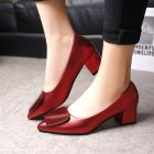 Korean Women's Fashion Pointed Head Shallow Mouth OL High-heeled Shoes