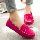 Korean Women's Fashion Bow Design Round Head Casual Shoes