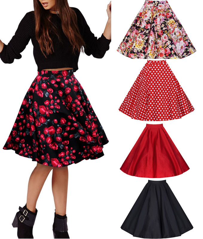 European Women's Fashion Pattern Printed Loose Skirt