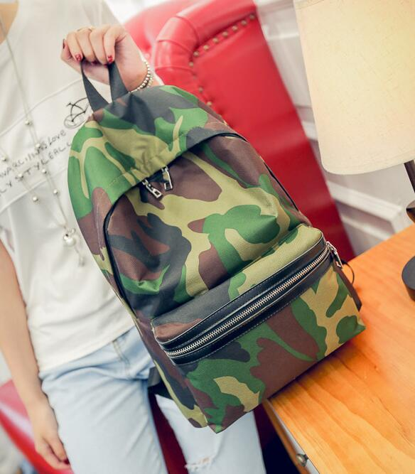 Army Inspired Simple Camouflage Pattern Designs Large Capacity Ladies School College Comfy Backpack