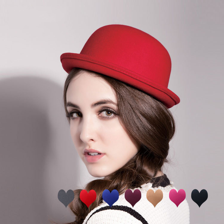 British Women's Fashion Round Shape Woolen Caps