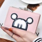 Cute Mickey Mouse Pattern Front Designs Back Coin Compartment Detailed Clasp Small Ladies Foldover Purse