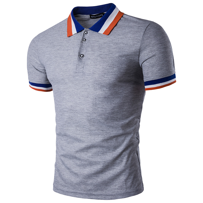 Men's Fashion Simple Multi Color Casual Polo T-Shirt