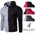 In-style Sporty Men's Sharp Bright Two Colors Pattern Designs Exercise Training Hooded Sweater