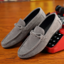 Korean Men's Retro Fashion Casual Suede Breathable Slip-on Flat Shoes
