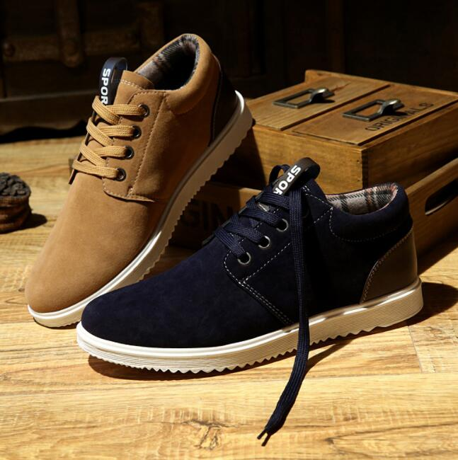 England Style Men's Retro Fashion Suede Casual Breathable Sport Shoes