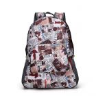 Messy Colorful Shaded Pattern Designs In-styles Student School Travel Large Backpack