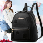Korean Women's Fashion Jelly Fish Design Embroidery Casual Travel Backpack