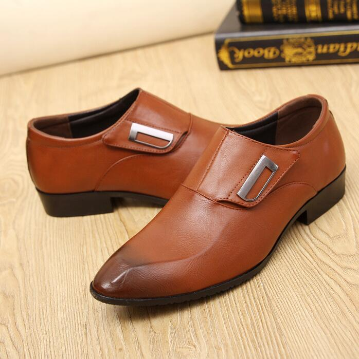 Business Men's Korean Fashion Single Strap Shoes