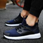 Classy Cool Comfy Breathable Mesh Fabric Designs Light Flexible Men's Sport Running Shoes