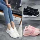 Sweet Girlish Plains Color Breathable Mesh Fabric Designs Comfy Light Ladies Running Shoes