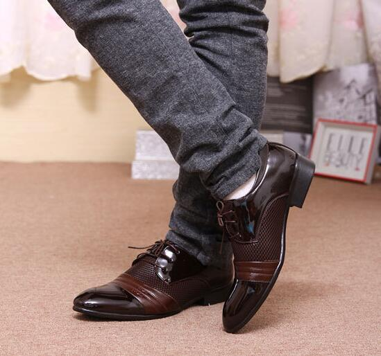 Men's Trendy Youth Korean Fashion Cap Toe Derby Shoes