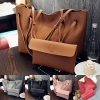Korean Classical Simple Women Large Shoulder Bag /2pcs per Set