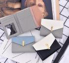 Korean Classic Fashion Simple Merged Color Three-layer Folded Mini Women Wallet