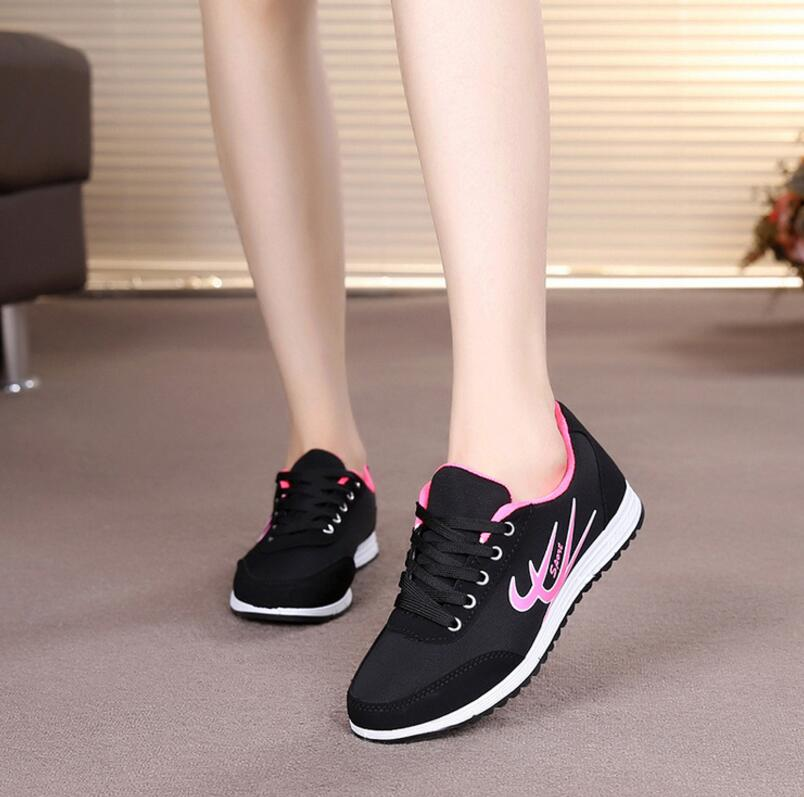 Simple Comfy Breathable Sporty Ladies Travel Training Leisure Light Sport Shoes