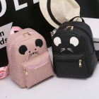 Korean Women's Fashion Adorable Mouse Design Printed Casual Backpack