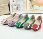 Korean Women Footwear Fashion Candy Color Comfortable Leisure Buckle Suede Flats Shoe
