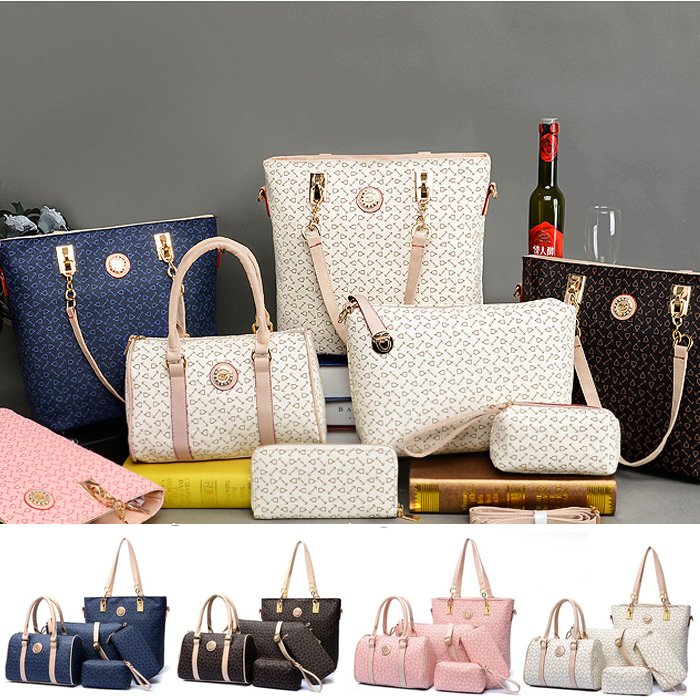 European Simple Minimalist Shoulder Diagonal Handbag 5pcs Set