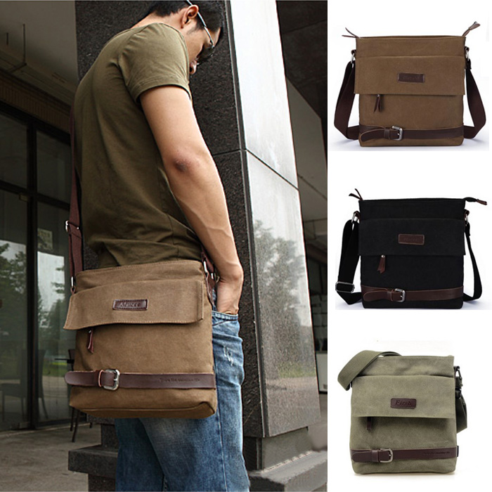 Men Shoulder Messenger Canvas Bag