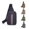 Leisure Sports Men's Canvas Messenger Shoulder Chest Bag