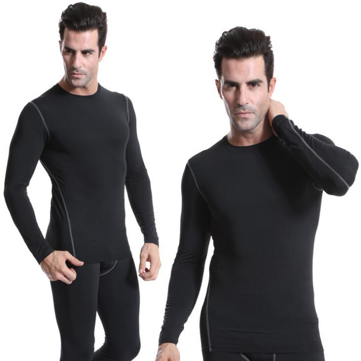 Men\'s Training Sport Exercise Fast Drying Slim Fit Long-sleeve Shirts