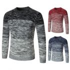 Japanese Men's Simple Leisure Trendy Mixed Colors Round Neck Long-sleeved Comfortable Woolen Sweater