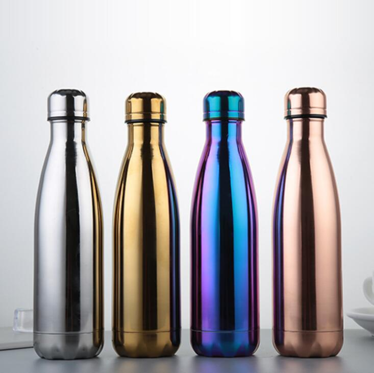Cool In-styles Color Bright Stainless Steel 500ML Heat Insulation Bottle
