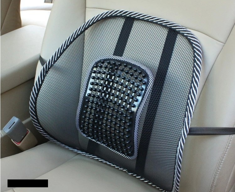 Cool Ice Silk Comfortable Breathable Massage Beads Car Seat Back Waist Support Massage pad