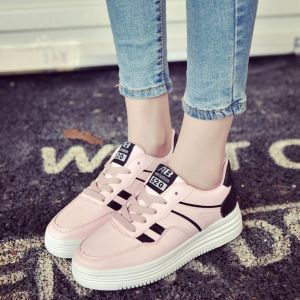 Korean Stylish Women's Fashion Leisure Thick Flat Soles Comfortable Classic Running Sports Sneakers