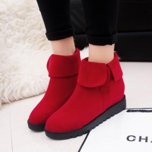European Women's Leisure Fashion Flat Thick Soles Comfortable Side Zipper Chelsea Boots