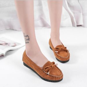 Korean Classic Trendy Fashion Light Comfortable Ribbon Bow Tie Classic Loafers
