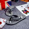 Color Merged Pattern Designs Men's Simple Leisure Beach Comfy Slipper