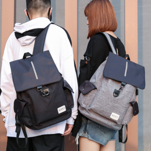 Korean Unisex Fashion Travel Outdoor Casual Laptop External USB Port Charge Backpack