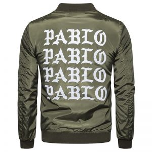 European Classic Men's Loose Fit Cotton Letter Printed Sleeve Pocket Outdoor Jacket