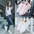 Classic Sweet Plains Color Pattern Designs Thick Bottom Ladies Sneaker Shoes